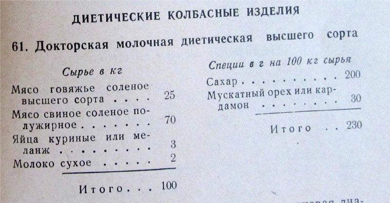 Сколько колбасы можно сделать по советским и нынешним ГОСТам
